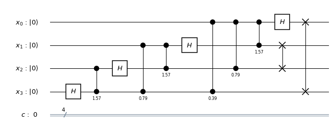 Implementing the quantum Fourier transform with Qiskit